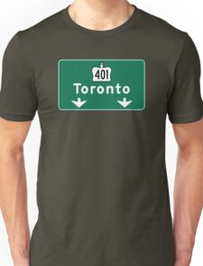 Toronto, Road Sign, Canada  Unisex T-Shirt