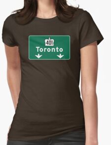 Toronto, Road Sign, Canada  Womens Fitted T-Shirt