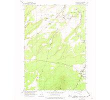 USGS Topo Map Oregon Cline Falls 279376 1962 24000 Photographic Print