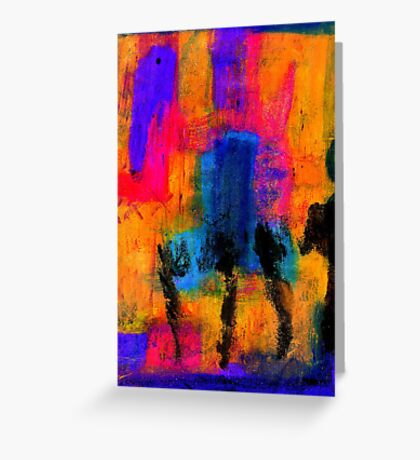Woman with Three Legs Greeting Card