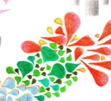Colorful beautiful shapes for good mood Sticker