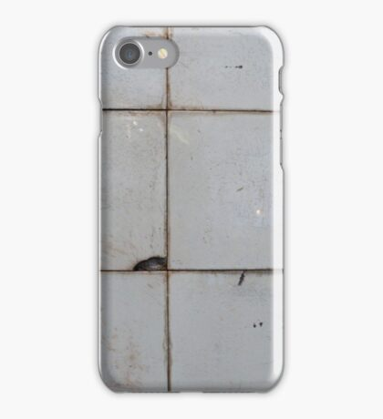 Old ceramic tile in usesd look  iPhone Case/Skin