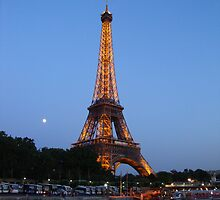 Eiffel Tower at Night by Kim North