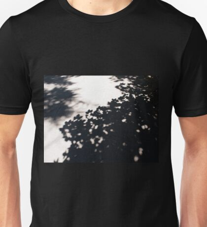 Asphalt track, which falls the shadow of the maple Unisex T-Shirt
