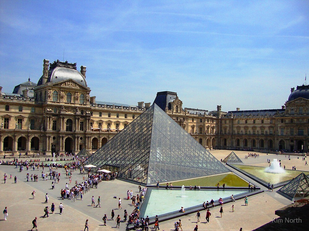 Louvre Pyramid - Paris by Kim North
