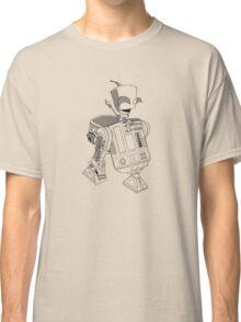 Two little robots - lineart Classic T-Shirt