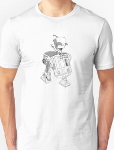 Two little robots - lineart Unisex T-Shirt