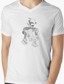 Two little robots - lineart Mens V-Neck T-Shirt