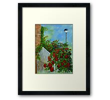White Pickett Fence Framed Print