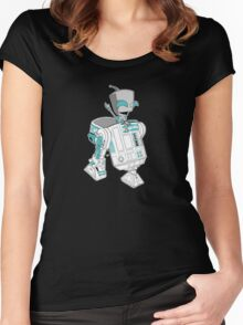 Two little robots - colour version Women's Fitted Scoop T-Shirt