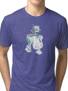 Two little robots - colour version Tri-blend T-Shirt
