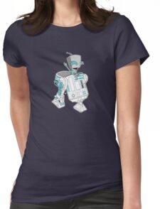 Two little robots - colour version Womens Fitted T-Shirt