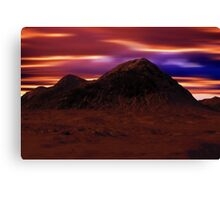 Mountain Winter's Night Canvas Print