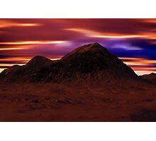 Mountain Winter's Night Photographic Print