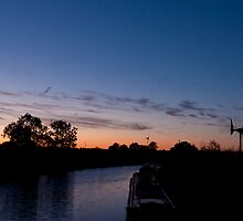 Grand Union Canal sunset by David Isaacson
