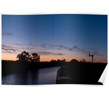 Grand Union Canal sunset Poster
