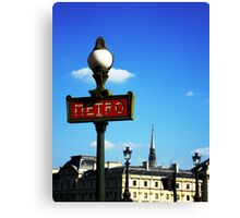 The Metro - Paris Canvas Print