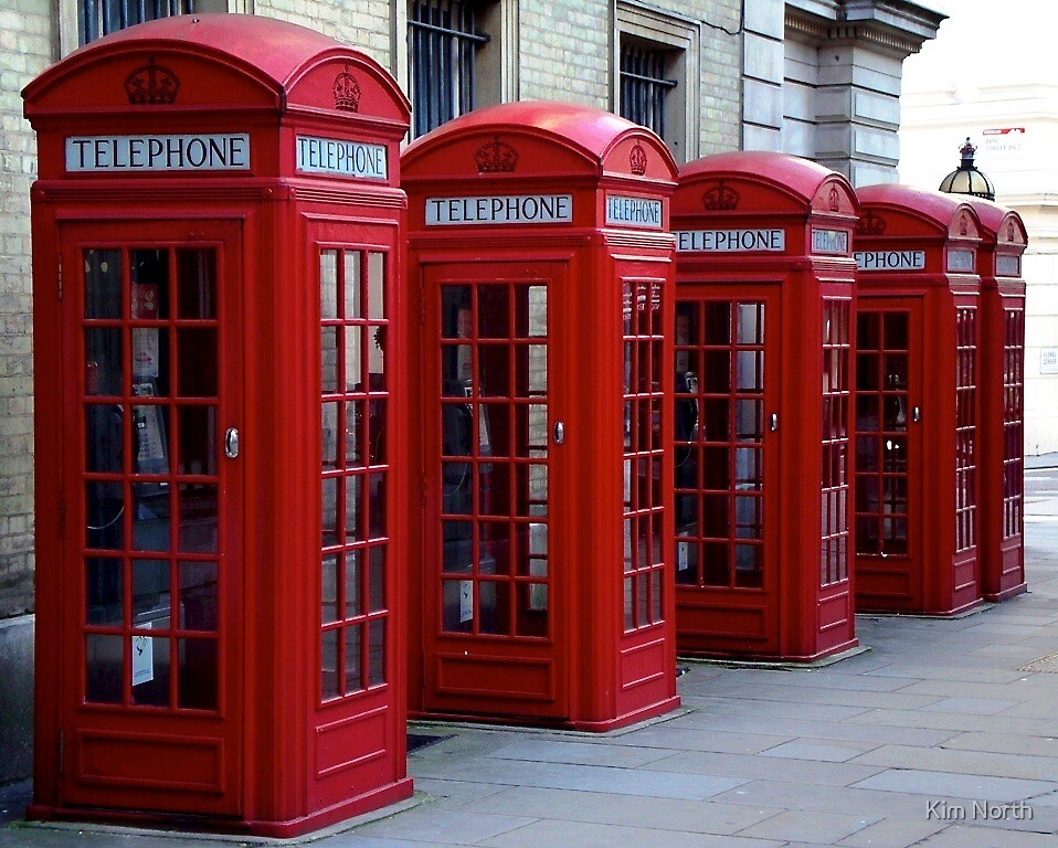 London Calling - Red Telephone Boxes by Kim North