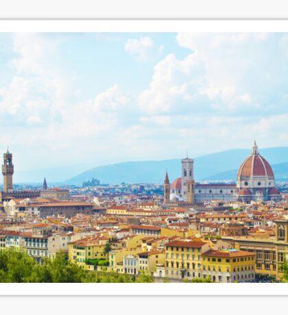 Overlooking Florence Sticker