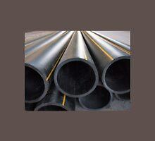 Plastic pipes of large diameter black closeup Unisex T-Shirt