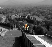 Ski Jump Series 5 - Lake Placid New York by Debbie Pinard