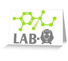 Adrenaline Lab-Rat VRS2 Greeting Card