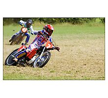 Grass track racing, Photographic Print