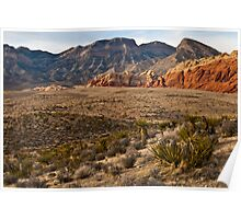 Red Rock Canyon Ridges Poster