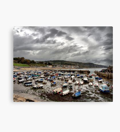 The Boats Lay Gently Sleeping in the Harbour Canvas Print