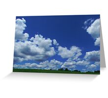 Clouds in the Country Greeting Card