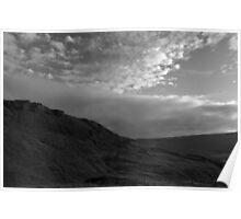 Rock and clouds vista - Peak District - United Kingdom Poster