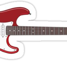 Electric Guitar Sticker Sticker