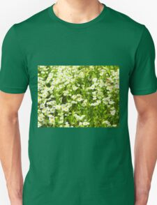 Selective focus of green field T-Shirt