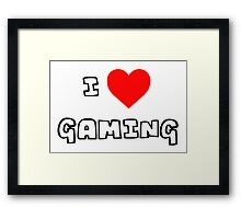 I Heart Gaming Framed Print