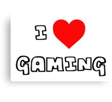 I Heart Gaming Canvas Print