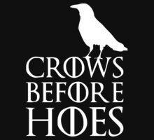 Crows before Hoes Game of Thrones Jon Snow Nights Stark 2015 Kids Tee