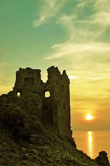 Sunsets over an ancient Scottish Castle by David Alexander Elder