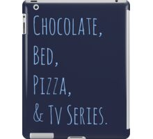 chocolate, bed, pizza & tv series iPad Case/Skin