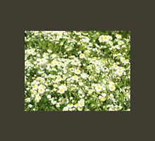Green field with white daisies closeup Unisex T-Shirt