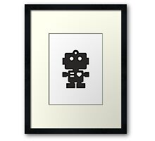 Robot - Simple Black Framed Print