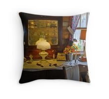 Lamp in the Cabin Throw Pillow