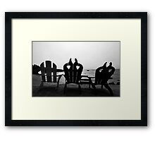 Hazy Horizon at Clifty Cove Motel Framed Print