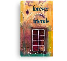 Through The Windowpanes of Friendship Canvas Print