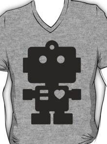 Robot - Simple Black T-Shirt