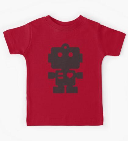 Robot - Simple Black Kids Tee