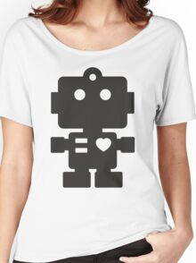 Robot - Simple Black Women's Relaxed Fit T-Shirt