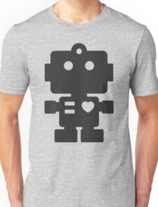 Robot - Simple Black Unisex T-Shirt