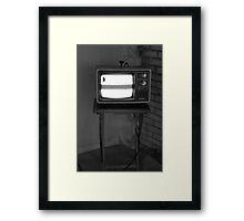 TV Set Framed Print