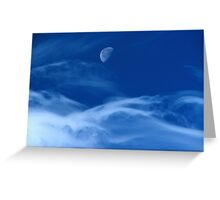 Moonship Flies Greeting Card