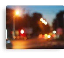 Night scene on the road Canvas Print